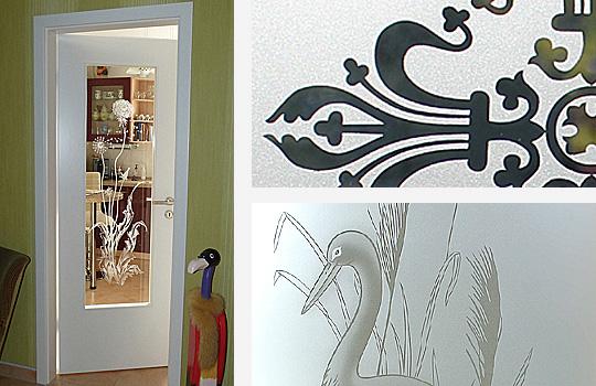 sandstrahldekore zeitlose motive f r t ren und fenster. Black Bedroom Furniture Sets. Home Design Ideas