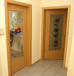 fusingglas f r innent ren wie ein glasbild in der t r. Black Bedroom Furniture Sets. Home Design Ideas